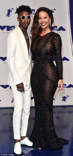 Loved up: Amber Rose was accompanied by her rapper beau 21 Savage