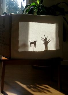 """Shadow Puppetry and Shadow Play for Children! Set by step instructions on creating a """"shadow box"""" and puppets!"""