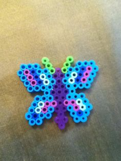 Butterfly hama beads by Anna