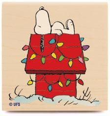 $7.89*Peanuts Snoopy Rubber Stamp I1017 DECORATED DOG HOUSE