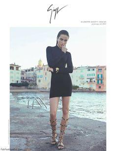Andreea Diaconu for Giuseppe Zanotti spring 2014 campaign
