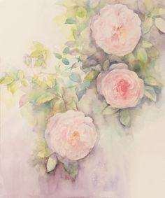 Art Flowers, Flower Art, Watercolor Cards, Watercolor Flowers, Botanical Drawings, Amazing Flowers, Japanese Art, Roses, Paintings