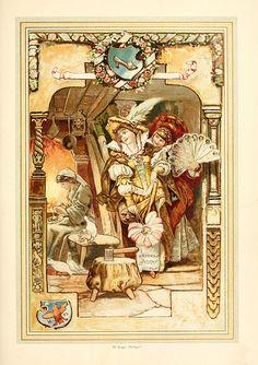 Hermann Vogel illustration of Aschenputtel (Cinderella) and her ugly sisters. by sofi01, via Flickr