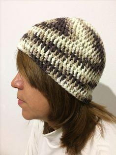 Gorro a crochet: Ganchillo de 6mm/ lana de 5mm 100% algodón 80g aproximadamente/ Punto alto / By: GM