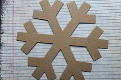 2 Huge 8 1/8 inch SNOWFLAKE bare chipboard die cuts by studioCee, $1.50  For my Wednesday Ballet/Tap/Character Class!