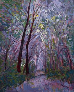 Purple Mist Painting by Erin Hanson