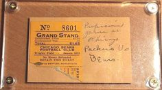 1932 Chicago Bears Wrigley Field Ticket Stub Vs Green Bay Packers