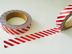 Candy Stripes Foil Thinner Washi Tape by GoatGirlMH on Etsy