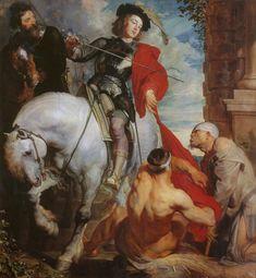 Sir Anthony van Dyck, St. Martin dividing his cloak 1618 | Arash Noorazar Virtual Art Gallery  #17th #Classic #Painting Sir #Anthony van #Dyck