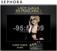 Lady Gaga chez SEPHORA Champs-Elysées http://www.actu-loisirs.com/2012/09/lady-gaga-chez-sephora-champs-elysees.html