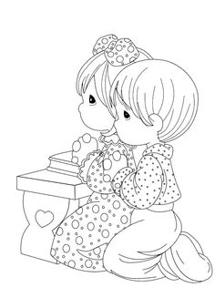 ~~pinned from site directly~~ . . .  Pray Precious Moments Coloring Pages