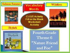Cloze Worksheets for Hougton Mifflin Harcourt 4th Grade Theme 6