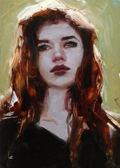 """Daily Paintworks - """"Dark Amber"""" - Original Fine Art for Sale - © John Larriva"""