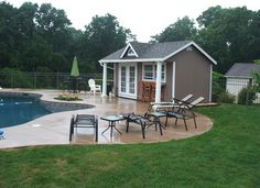 Small 10X20 Pool House Plans pool houses Pool House Pinterest
