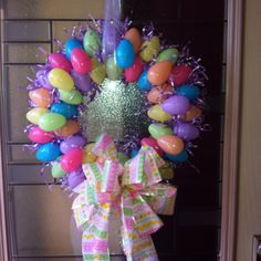 Easter egg wreath I made!