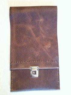 Extra long leather paintbrush case £26.49