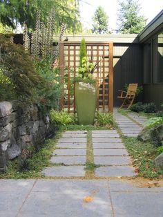 Break up your space. Whether your garden is large or small, breaking it into smaller spaces — each with its own boundaries and personality — creates the illusion of more space.