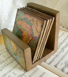 Map coaster holder created to match your coasters.
