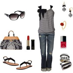 """Everyday Casual"" by shirell on Polyvore-I have made a top like this myself!"