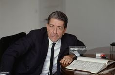 Canadian singer, songwriter, composer, writer and poet Leonard Cohen during the filming of a music clip by the French photographer Dominique Issermann.