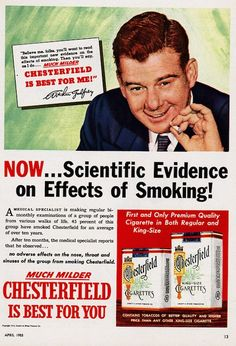 #36 chesterfield cigarettes are good for you ad