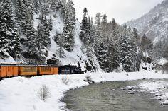 Cascade Canyon train winter