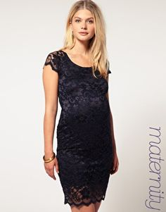 ASOS MATERNITY Short Sleeve Slash Neck Lace Dress. Exactly what I want for Megs Wedding