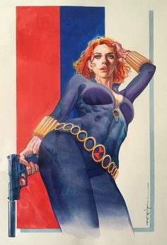 Untitled — comicartgallery: Black Widow by Brian Stelfreeze Comic Movies, Comic Book Characters, Marvel Characters, Comic Character, Comic Book Artists, Comic Artist, Comic Books Art, Marvel Art, Marvel Heroes