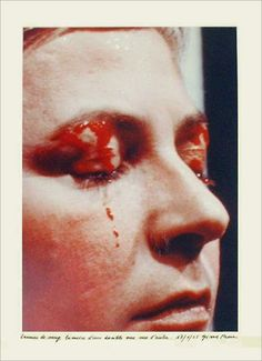 Gina Pane Action Psyché (essai). 24-1-1974. Triptyque