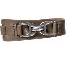 Hultquist Silver Plated Equestrian Brown Leather Bracelet | lizzielane.co.uk £36.00
