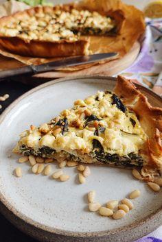 Tarte aux blettes, fêta et pignons de pin   Lau à la menthe Salty Tart
