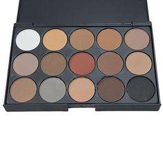 Cosmetic Matte Eyeshadow Cream Eye Shadow Makeup Palette Shimmer Set 15 Color