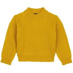 Comme Moi Wool blend kids sweater (665 PEN) ❤ liked on Polyvore featuring tops, sweaters, yellow, yellow sweater, yellow top and wool blend sweater