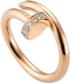 Cartier Juste Un Clou 18ct Pink-Gold and Diamond Ring