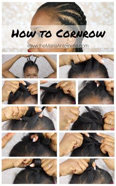 Step-by-step instructions on how to cornrow your own hair beginners friendly.