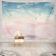 KJONG Sun and Cloud with Pastel Cloud Candy Color Pastel Sunset Pink Abstract Cotton Fantasy Rainbow Sky Gradient ArtDecorative Inches Wall Hanging Tapestry for Bedroom Living Room Purple Tapestry, Tapestry Nature, Dorm Tapestry, Tapestry Bedroom, Tapestry Wall Hanging, Tapestries, Pastel Clouds, Pastel Sunset, Sun And Clouds