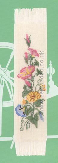 Buy Floral Bookmark Cross Stitch Kit Online at www.sewandso.co.uk