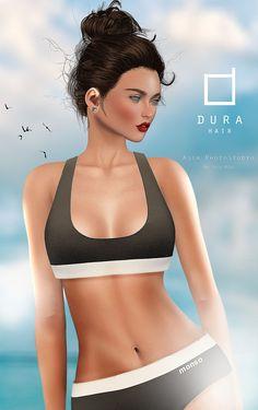 https://flic.kr/p/xwo5LF | DURA hair AD ! | *Dura-Girl*63(There are not bangs )  [monso] My Sporty Bikini - Black + White LeLutka Mesh Head-STELLA Glam Affair ( Lelutka Heads )  Applier Maitreya Mesh Body - Lara [MANDALA]SIMPLE_EARS_HUTUU  Photo / Model  Asia Rae