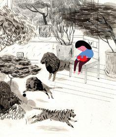 Mari Kanstad Johnsen's incredible illustrations for the children's book, Vivaldi.