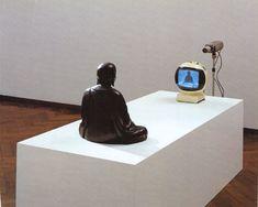 Nam June Paik (1932-2008), TV Buddha * 1974 - Closed Circuit Video-Installation with Bronze Sculpture on ArtStack #nam-june-paik-1932-2008 #art