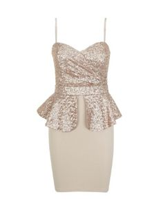 Lipsy Sequin Peplum Dress. for new years?!!