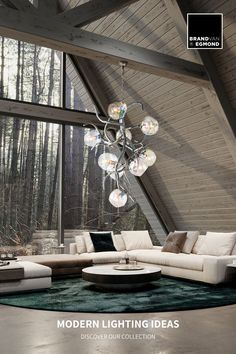 Ersa modern chandelier in a residence. Visit our website and discover our Modern Lighting Ideas: www.brandvanegmond.com Modern Lighting Design, Custom Lighting, Interior Lighting, Modern Interior Design, Contemporary Interior, Lighting Ideas, Modern Art, Luxury Chandelier, Contemporary Chandelier
