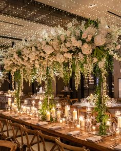 Twilight Garden Brooklyn Wedding From the twilight ceiling to the lush floral displays, and an abundance of dreamy candles, this wedding was truly luxuri. Wedding Locations, Wedding Themes, Wedding Ideas, Luxury Wedding Decor, Wedding Pictures, Wedding Details, Twilight Wedding, Ariel, Marriage Decoration