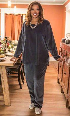 COTTON VELOUR TOP / MiB Plus Size Fashion for Women / Winter Fashion / Plus Size Dress / Plus Size Top