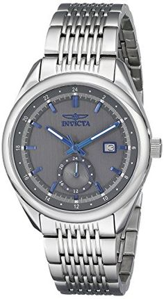 Invicta Mens 18094 Specialty Analog Display Swiss Quartz Silver Watch -- Find out more about the great product at the image link. Note: It's an affiliate link to Amazon #MensLuxuryWatches