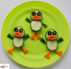 Fun food art Dancing Ducks - Fun, healthy, creative food for kids big and small
