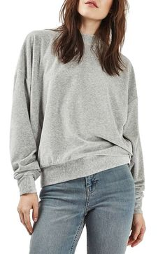 Topshop Batwing Velvet Sweater available at #Nordstrom
