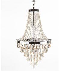 Arnhem Chandelier - Contemporary crystal chandelier with hand cut tinted crystals http://www.franceandson.com/arnhem-chandelier.html