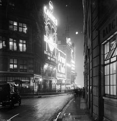 A shot looking down Glasshouse Street to the junction with Sherwood Street and towards the...