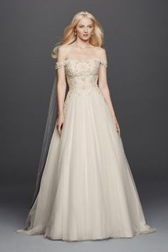 Modern princess lace sleeves and draping on pinterest for Wedding dress with swag sleeves
